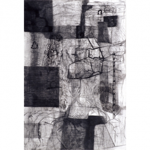 1995 - 1996 Untitled no. 10 | 75,5 x 110 cm | charcoal on paper