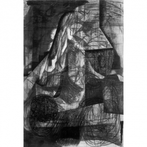 1995 Untitled no. 3 | 75,5 x 109,8 cm | charcoal on paper