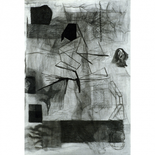 1995 Untitled no. 4 | 78 x 110 cm | charcoal on paper