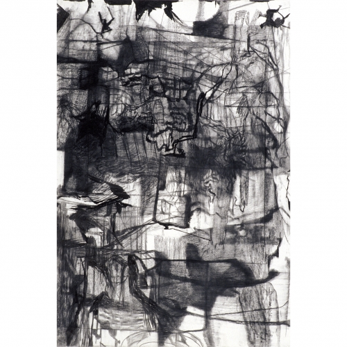 1996 Untitled no. 11 | 75 x 110 cm | charcoal on paper