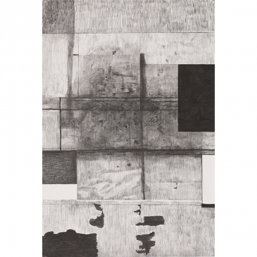 2002 Muur / Wall no. 5 | 233 x 157 cm | charcoal on paper