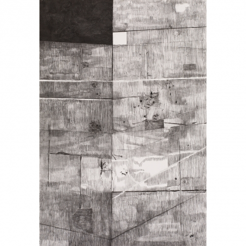 2002 Muur / Wall no. 4 | 233 x 157 cm | charcoal on paper