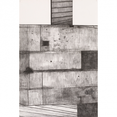 2003 Muur / Wall no. 7 | 233 x 157 cm | charcoal on paper