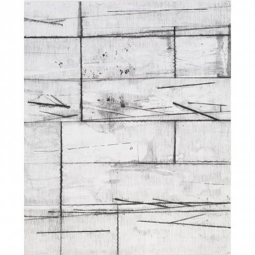 2003 Muur / Wall no. 3 | 193 x 157 cm | charcoal on paper