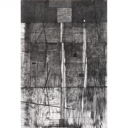 2002 Muur / Wall no. | 233 x 157 cm | charcoal on paper
