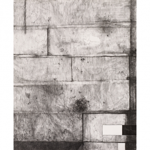 2002 Muur / Wall no.  | 193 x 157 cm | charcoal on paper