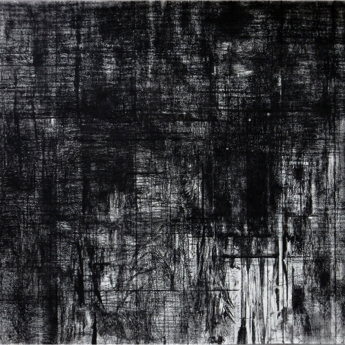 2014-18 Untitled no. 1 | 100 x 140 cm | charcoal on paper