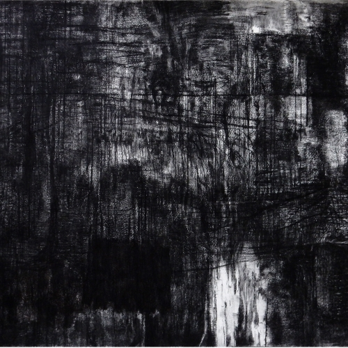 2014-18 Untitled no. 3 | 100 x 140 cm | charcoal on paper