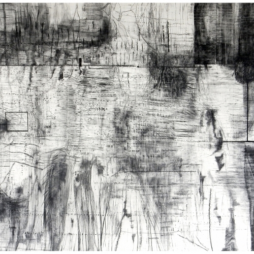 2018 Untitled |152 x 231 cm | charcoal on paper