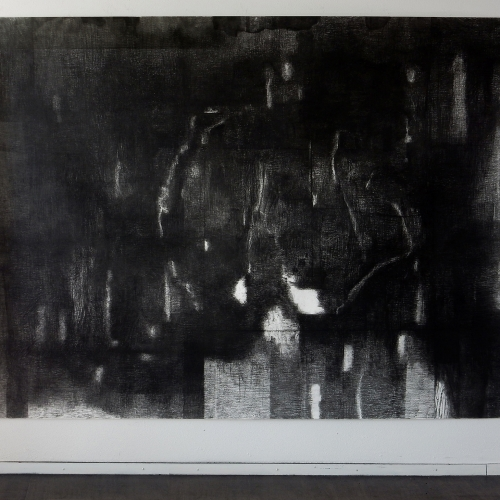 2019 Untitled | 196 x 260 cm | charcoal on paper