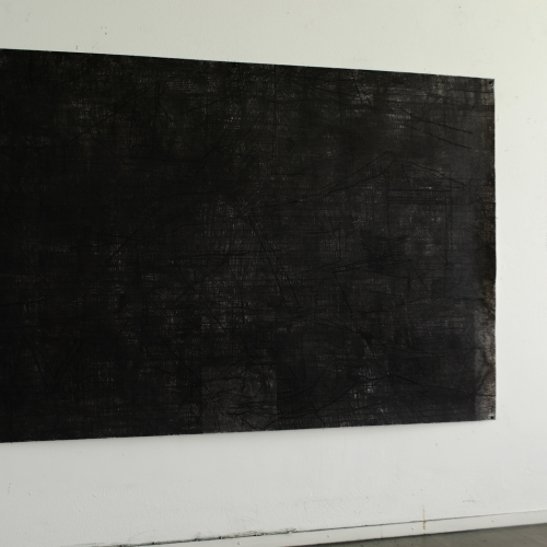 2019 Untitled | 233 x 157 cm | charcoal on paper